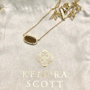 Kendra Scott Necklace Gold Drusy